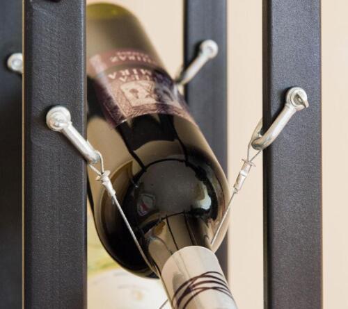 Étagère à vin métal noir Pit 100 cm Bouteilles Support Bouteilles Support bouteilles étagère