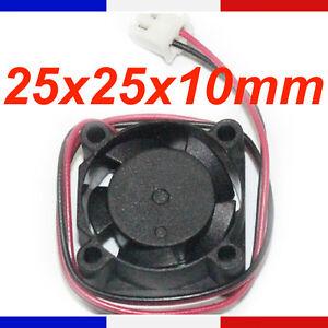 DéLicieux Ventilateur 12v 25 X 25 X 10 Mm - Fan Brushless 25*25*10 Mm Dc 3d 2510 Cnc 2510 Emballage De Marque NomméE