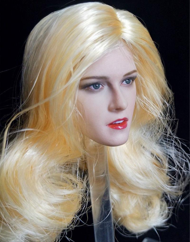 XYtoys Kristen Stewart Head Carving 1 6 scale Blond Hair Hair Hair Female Head Sculpt 77d34e