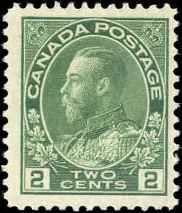 Mint-H-Canada-F-Scott-107-2c-1922-King-George-V-Admiral-Stamp