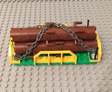 Lego New City MOC 3 Logging Logs Trunk Tree W/ Train Wagon End Plate Rack Holder
