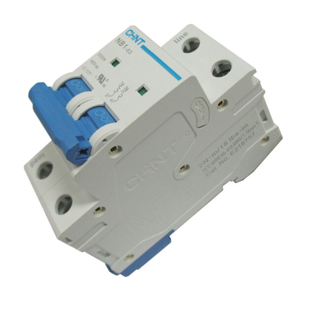 40 Amp 1 Pole Din Rail Mount Circuit Breaker UL 120 277 /& 480 Volt Class C