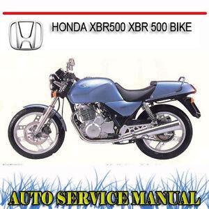 image is loading honda-xbr500-xbr-500-bike-repair-service-manual-