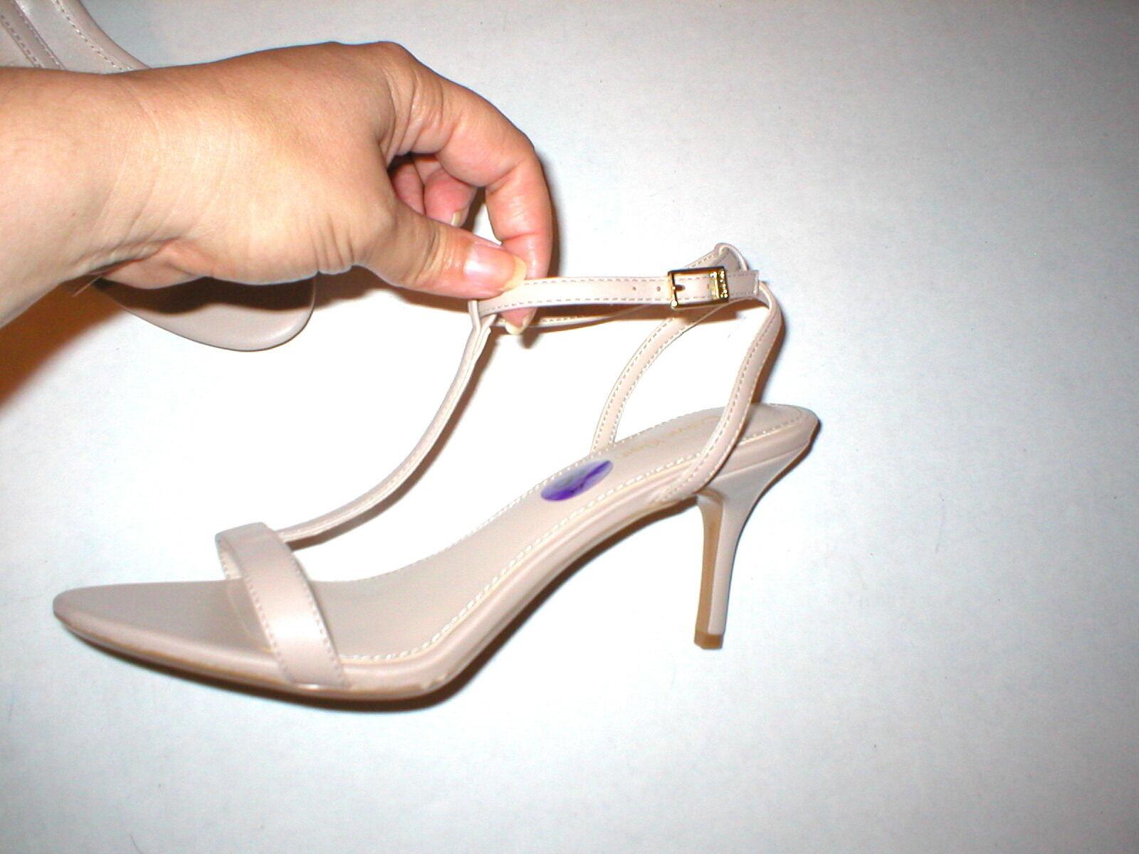NEU Damenschuhe 9.5 Calvin Klein Lola Heels Schuhes Tan Khaki Sandale Open toe Leder