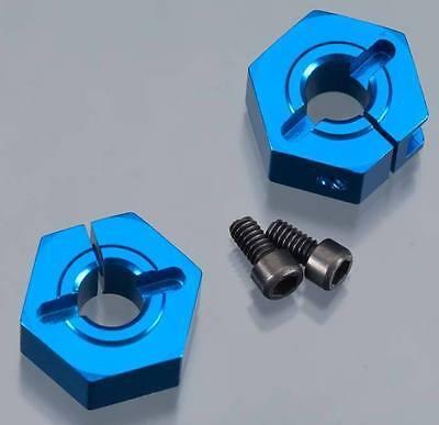 Team Associated Factory 1//10 9893 SC10.2 Alum Clamping Wheel Hex 12mm Front SC10