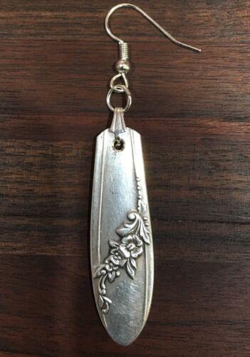 VINTAGE ONEIDA SPOON// FORK Earrings Queen Bess Pattern Silverware Jewelry