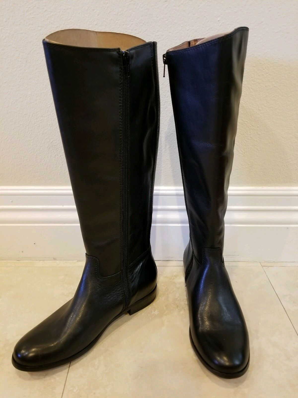 Corso Como Classics STONY TALL Leather Riding Boots Black Sz 6M NEW