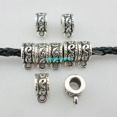 United 18/54pcs Tibetan Silver Spacer Bead Connectors Bails Charms 5*7*10mm Jewelry Connectors & Bails Crafts