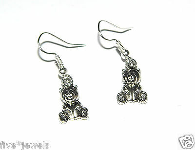 The Cheapest Price Teddy Bear Earrings Sealed & New Fashion Jewelry Item Supplement The Vital Energy And Nourish Yin Earrings