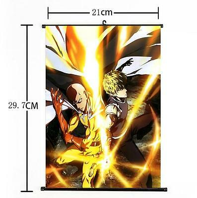 Hot Japan Anime One Punch Man saitama Genos Home Decor Poster Wall Scroll 21*30a