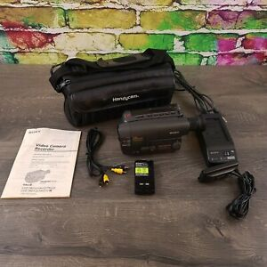Sony-CCD-TRV212-Video8-Camcorder-Charger-Adapter-Battery-Manual-A-V-Cable-Bag