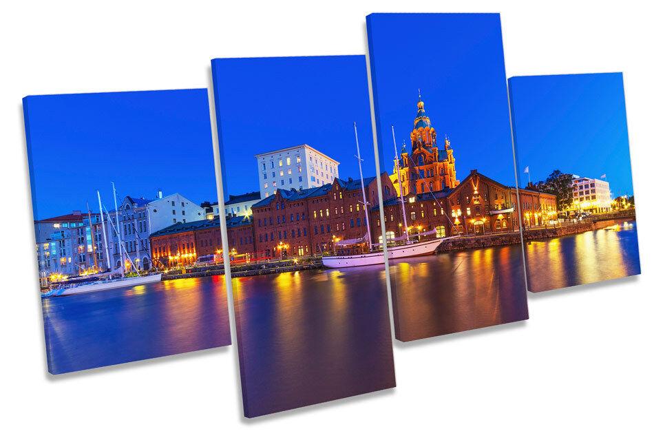 Finlandia Finlandia Finlandia Helsinki City art. a muro Skyline Multi Box incorniciato 4c6bd0