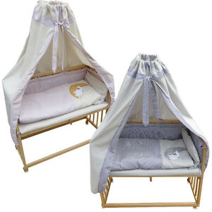 beistellbett babybett stillbett stubenbett nestchen stubenwagen kinderwiege ebay. Black Bedroom Furniture Sets. Home Design Ideas