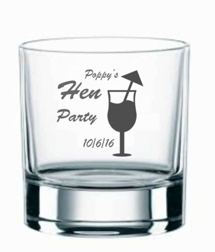 Personalised Engraved glasses Wedding Stag Hen  Party Birthday Gift by jevge