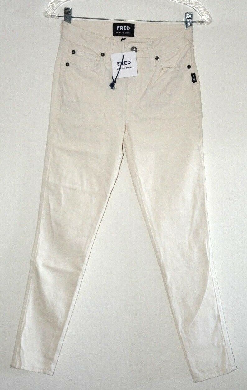 FRED by Fred Sefal Whiter White Perfect skinny jeans sz 25