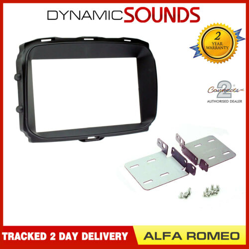 CT23AR13 Double DIN Fascia Panel Adaptor Black For Alfa Romeo Giulietta 2014 On