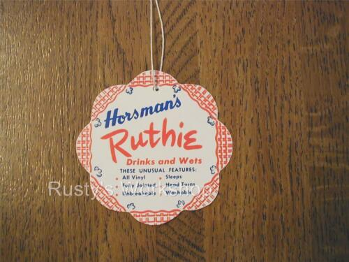 A WRIST hang TAG 1st issue Made FOR 1950/'s Horsman RUTHIE dolls
