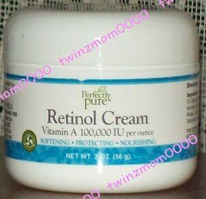 Perfectly Pure Retinol Cream 2 oz Jar Vitamin A - 100,000