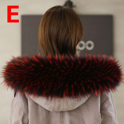 Winter Fur Collar Scarf Trim for Coat Down Jacket Faux Fox Hood Scarf Shawl Wrap