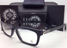 New CHROME HEARTS Eyeglasses JUST THE TIP MBK 52-19 Black Frame /Sterling Silver