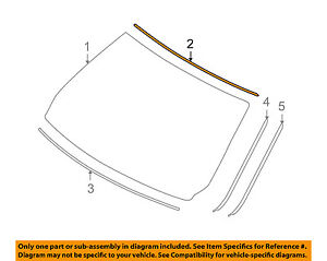 BMW-OEM-07-12-328i-Windshield-Reveal-Surround-Molding-Trim-51317061967