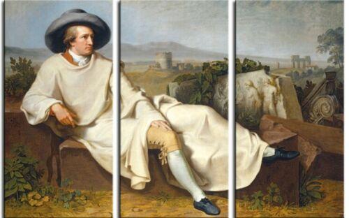 #85676 W Tischbein Goethe Campagna Poster Leinwand-Druck Bild 180x120cm