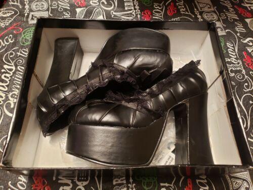 Demonia Charade-26 Black Heels Boots - Size 8