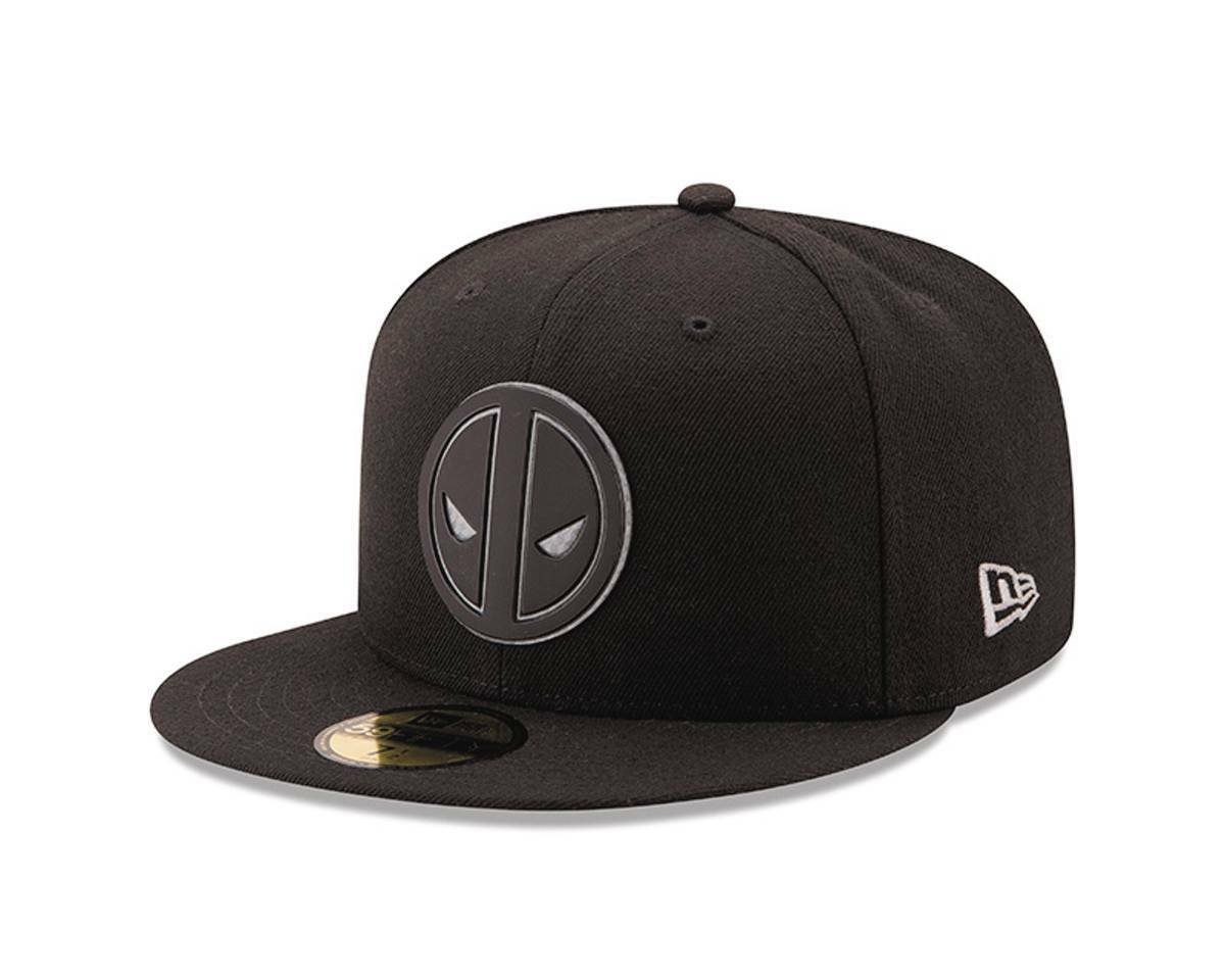 Marvel Deadpool Logo Logo Logo Hexshine 5950 Fitted Baseball Cap a986a8