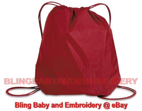 Drawstring Backpack Pink Red Blue Orange Green Brown Black Maroon Gold Purple