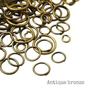 200 pcs Antique Bronze Open Jump Rings 6 x 0.7mm