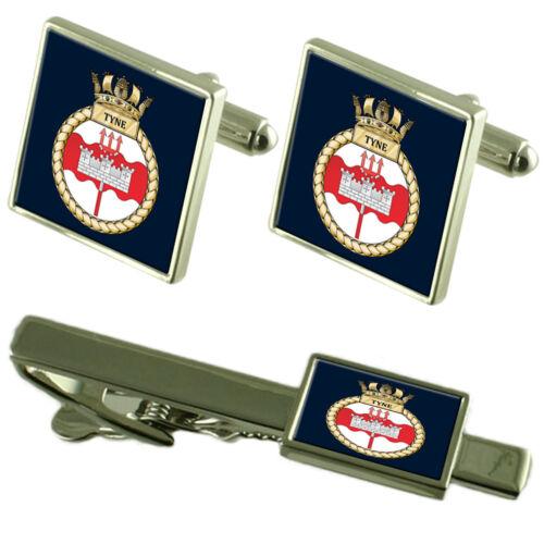 Royal Navy HMS Tyne Tie Clip Cufflinks Box Set