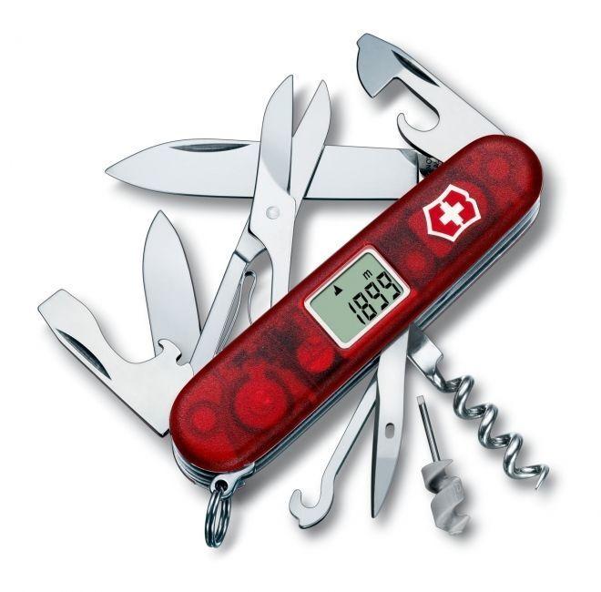 Victorino Altimeter Swiss Swiss Swiss Army Knife SAK Translucent Ruby 1.7905.AVT new 457565
