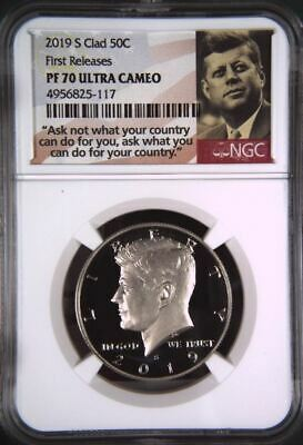 2019 S Proof Kennedy Half Dollar 50c NGC PF 70 Ultra Cameo Early Releases Clad