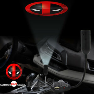 2x Car Door X-men Deadpool Punisher Logo LED Laser Projector Ghost Shadow Light