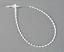 "Dennison 5/"" Secur-A-Tie Circle Fastener Natural 25 each Part# 08350 SAMPLE PK"
