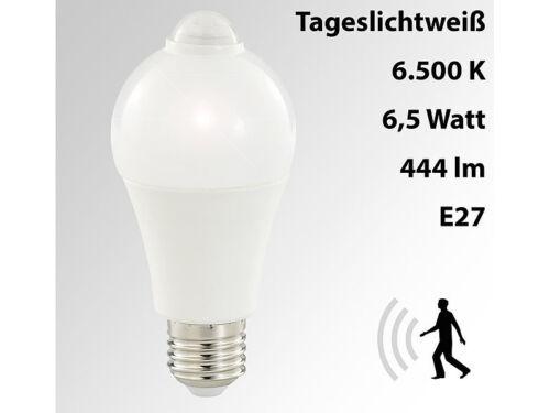 6500K,6,5 W tageslichtweiß E27,444 Lumen LED-Lampe mit Bewegungserkennung