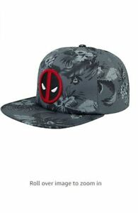 Marvel-DEADPOOL-MONO-FLORAL-SLOUCH-Snapback-Hat-Cap-NEW-TAGS-507786