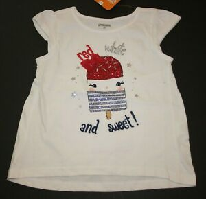 New-Gymboree-3T-NWT-Red-White-and-Sweet-Glitter-Popsicle-Top-Tee-July-4th
