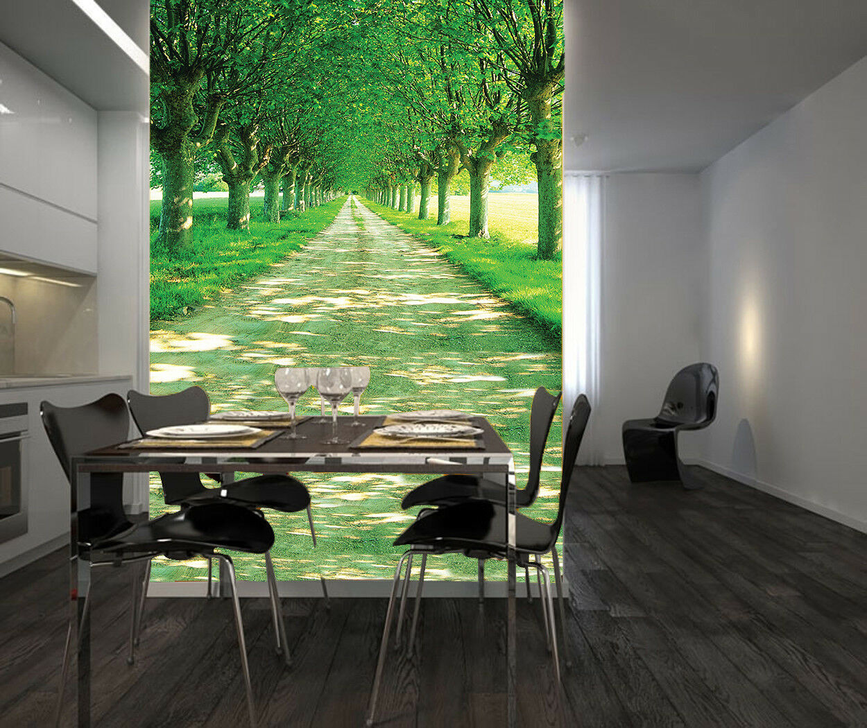 3D Grün Woods Path 577 Wall Paper Wall Print Decal Wall Deco Indoor Mural Carly