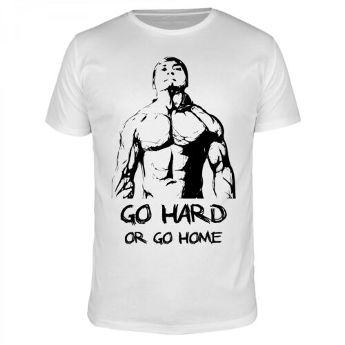 Go Hard Or Go Home Gym Fitness Body Building Sport Freak Shirt Uomini