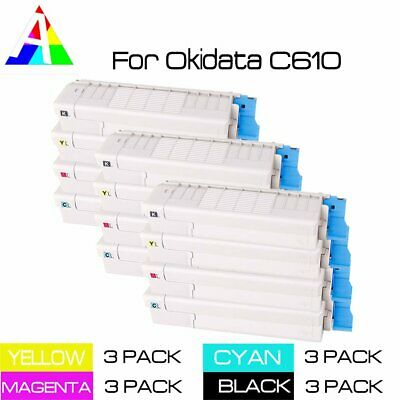 12 PK Toner Set for okidata Oki C6150 C6150N C6150DN C6150DTN MC560 MC560DN 3Set