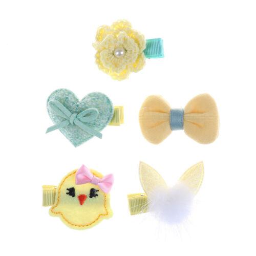 5Pcs Handmade Kids Girls Bowknot Hair Clips Barrette Hairpin Hair AccessoriesSTU
