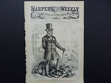 """HARPER'S WEEKLY, Front Page #12 Oct 1876 """"Croppies, Lie Down."""""""