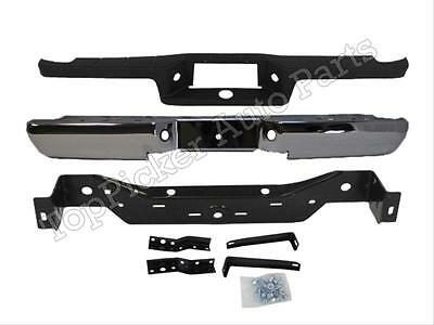 Step Bumper Compatible with 1993-2011 Ford Ranger Assembly Chrome with Pads Hitch Style Fleetside