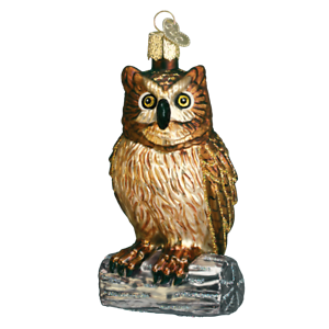 Old World Christmas WISE OLD OWL (16019)N Glass Ornament w/OWC Box