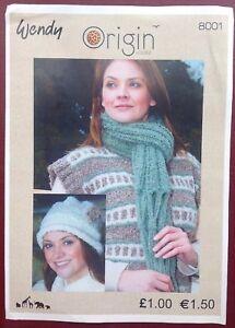 d856beda9 Image is loading Wendy-Ladies-Hat-amp-Scarf-Knitting-Pattern