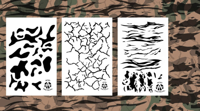 picture about Printable Camo Stencil referred to as 3pack Spray Paint Camouflage Stencils 14\