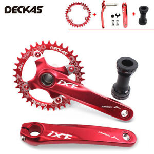 IXF-CNC-170mm-Crank-MTB-Bike-Crankset-amp-BB-amp-104bcd-Narrow-Wide-Chainring-32-52T