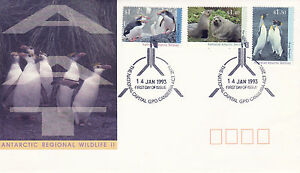 AUSTRALIA-AAT-14-JANUARY-1993-WILDLIFE-II-OFFICIAL-FIRST-DAY-COVER-SHS