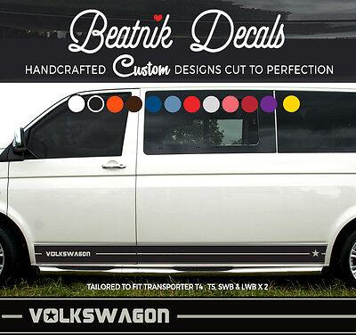 VW Van Fenêtre Autocollants x 2 Graphique Vinyle Autocollants Crafter T4 T5 Caddy